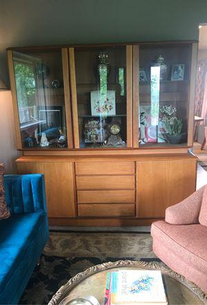 Beautiful Scan Design Teak China Cabinet. for Sale in Washougal, WA