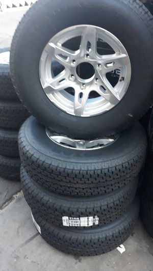 4 new wheels & tires 15 inch trailer st 225 75 r15$550 for Sale in Escondido, CA