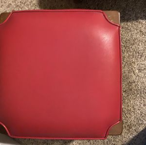 2 stackable, leather Ethan Allen Foot Rests or Stools for Sale in Ridgefield, WA