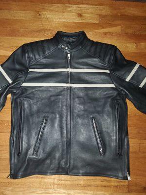 Men's Black Motorcycle NAKED Natural Premium Quality Leather Jacket for Sale in Woodbridge, VA