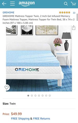 Mattress Topper 2 inch - Twin Bed for Sale in Oceanside, NY