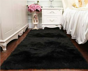 Faux Fur Black Sheepskin Soft Area Rug 5'x6' for Sale in East Los Angeles, CA