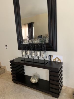 Dark brown console table for Sale in Glendale, AZ