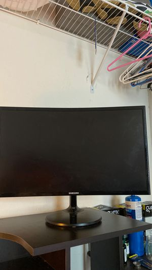 Curved Samsung monitor for Sale in Oxford, FL