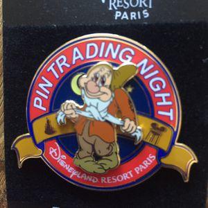 Disney Paris Snow White's Bashful Trading Night Pin for Sale in Portola Hills, CA