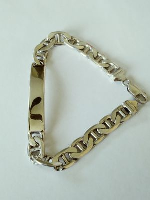 **HEAVY** New Solid 925 Sterling Silver ID MARINER Bracelet 39 grams 9 inch long and 9mm wide $175 OR BEST OFFER for Sale in Phoenix, AZ