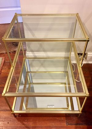 West Elm Gold Glass End Table for Sale in Philadelphia, PA