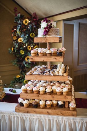 Wooden Five Tier Cupcake Stand for Sale in Brunswick, OH