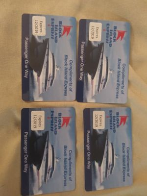 4 one way block island express passes for Sale in Wolcott, CT