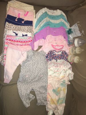 Slightly used baby girl clothes size 3-6 months for Sale in Boston, MA