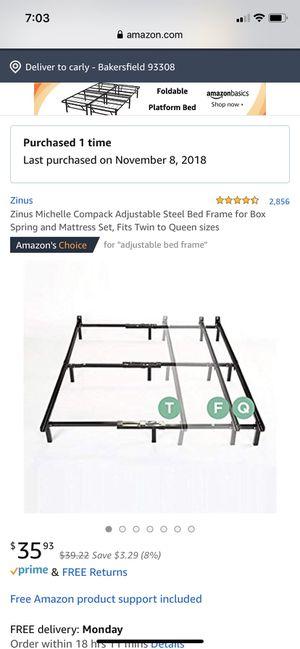Adjustable steel bed frame for Sale in Bakersfield, CA