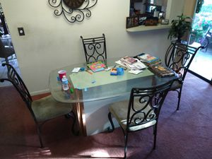 FREE...Glass topped dining table and chairs for Sale in Trinity, FL