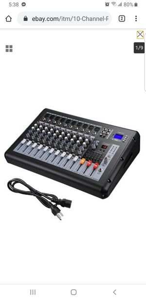 10 Channel Professional DJ Power Mixer USB System Amplifier Amp 16DSP LCD Record for Sale in Lakewood, CA