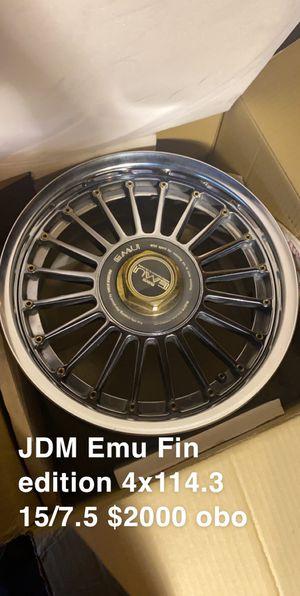 """JDM Emu Fin rims 15"""" for Sale in Chicago, IL"""