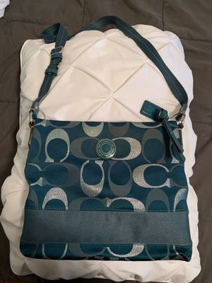 Teal Coach satchel for Sale in Happy Valley, OR