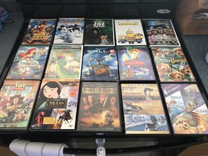 15 Children's DVDs Disney Mulan Toy Story Potc Little Mermaid for Sale in Windham, NH