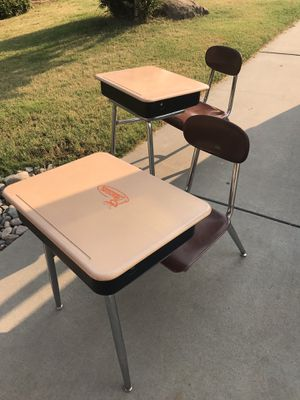 2 kids school desk with chair attached for Sale in Atwater, CA