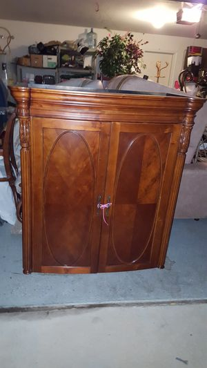Two-piece antique roadshow armoire with paperwork for Sale in San Tan Valley, AZ