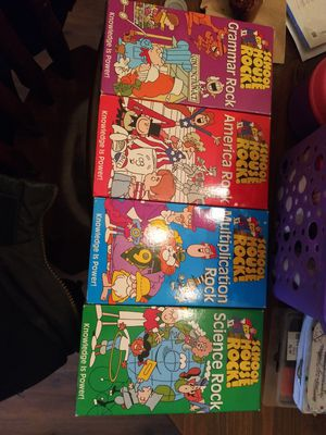 Original Schoolhouse Rock VHS collection great condition for Sale in Pittsburgh, PA