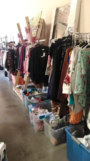 Lots of great cloths. Most new with tags at hugely discount prices. for Sale in Fontana, CA