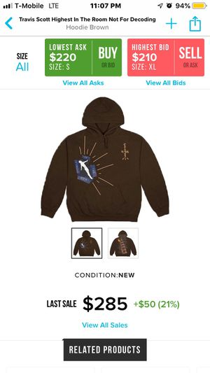 Travis Scott HITR Not For Decoding Hoodie Merch *SOLD OUT ONLINE* for Sale in Alexandria, VA