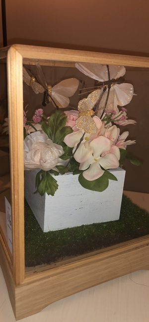 Flower and butterfly decoration Box for Sale in Frederick, MD