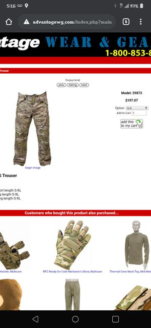 Miltary issued 100 percent waterproof pant for Sale in Wichita, KS