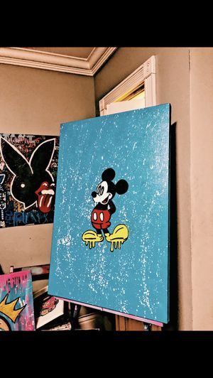 Original Mickey Mouse painting 24x36 inch for Sale in Miami, FL