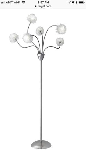 Satin steel floor lamps for Sale in Newton, MA