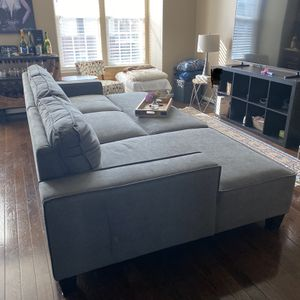 Sectional grey for Sale in Sterling, VA
