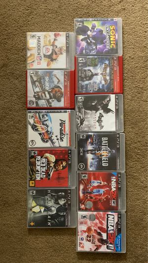 Ps3 games each different prices $2 max $10 for Sale in Elgin, IL