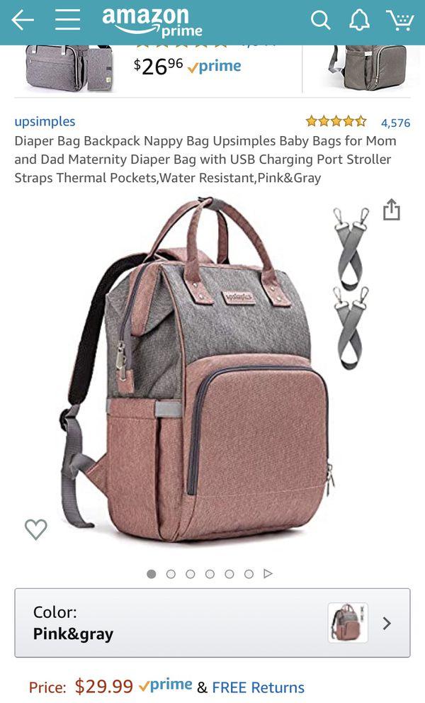 Upsimples diapers bag