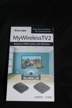Actiontec MWTV2KIT01 MyWirelessTV2 Video Transmitter and Receiver - Black for Sale in Tacoma, WA