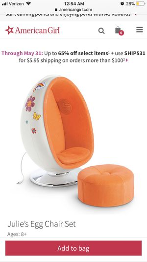 American girls doll chair real speaker for Sale in Annandale, VA