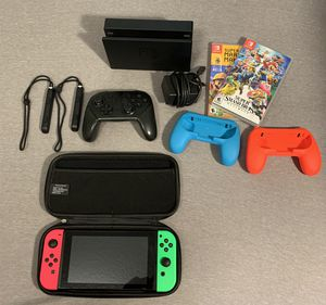 Nintendo Switch with Accessories and Memory Card for Sale in Miramar, FL