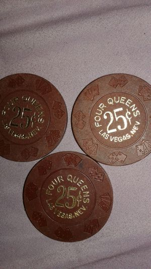 Four Queens 25 cent poker chips for Sale in Las Vegas, NV
