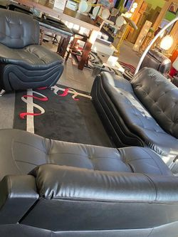 New ✅•3pcs Black Sofa-Love and Chair• Free Financing ✔️• No interest for 90 days‼️• We deliver and Set Up 🚚📦 for Sale in Las Vegas,  NV
