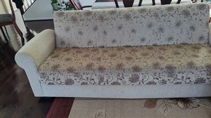 Sofa , bed and storage with 6 pillows for Sale in Bristow, VA