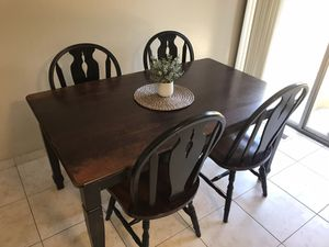 Kitchen table and chairs (solid wood) for Sale in Mountain View, CA
