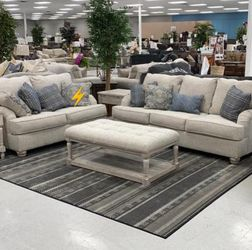 🔥39$ Down Payment🔥Traemore Linen Queen Sofa Sleeper for Sale in Reisterstown,  MD