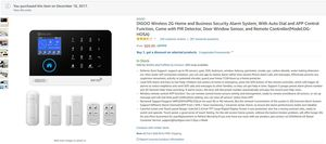 DIGOO Wireless Home and Business Security Alarm System On Amazon for $70 for Sale in TN, US