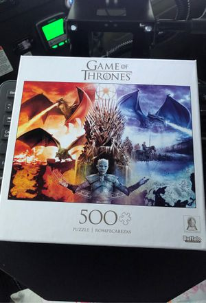 Game of Thrones : Fire and Ice 500 Piece Jigsaw Puzzle - Unopened for Sale in Cooper City, FL