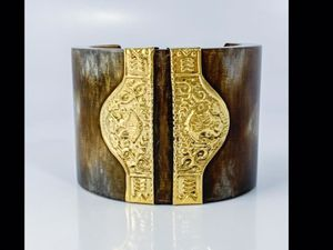 Millard Couture Handwrought Brass Resin Cuff ! and Bangle and Tigers Eye Bracelet, plus Hat pins ! Wow! for Sale in Henderson, NV