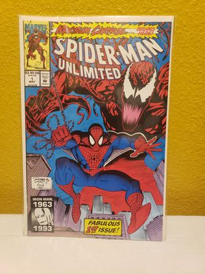 Spider-Man unlimited maximum carnage #1 first appearance of Shriek appearing in Venom 2 movie for Sale in Carson, CA
