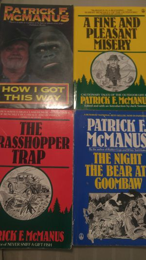 4 Patrick F. Mcmanus softcover books for Sale in Prineville, OR