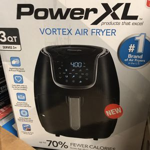 PowerXL Vortex Air Fryer - 3qt - Black/As Seen on TV for Sale in Las Vegas, NV
