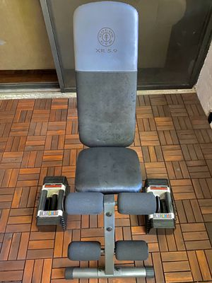 Adjustable dumbbells and weightlifting bench for Sale in Davie, FL