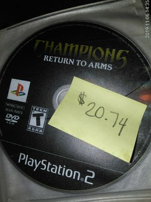 Champions return to arms PS2 game for Sale in Fresno, CA