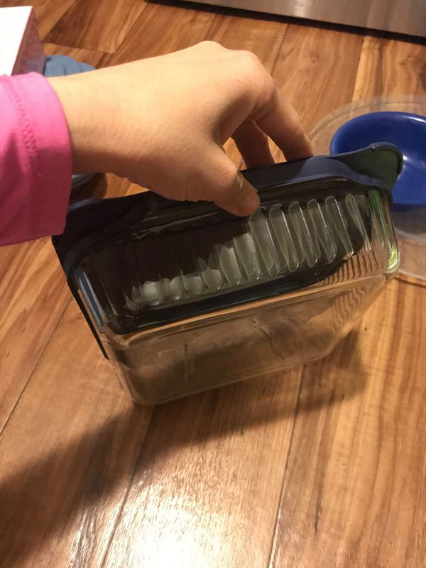 Pyrex glass Tupperware can be used in the oven
