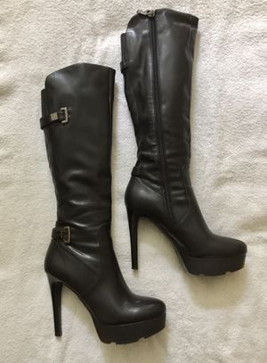 Guess Halloween Stiletto platform black boots sz 8M for Sale in The Woodlands, TX